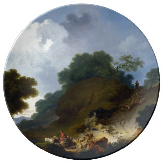 Landscape with Shepherds by Fragonard Porcelain Plate