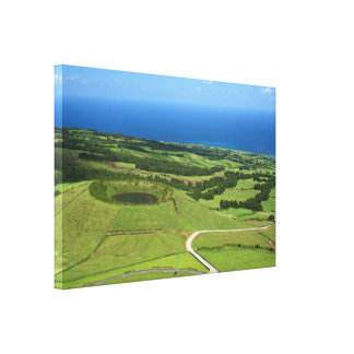 Landscape with small crater canvas print