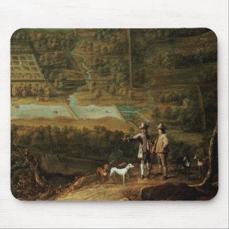 Landscape with sportsmen mouse pad