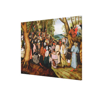 Landscape with St. John the Baptist Preaching Canvas Print