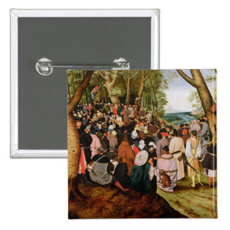Landscape with St. John the Baptist Preaching Pinback Button