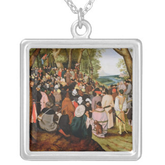 Landscape with St. John the Baptist Preaching Silver Plated Necklace