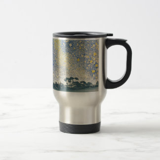Landscape with Stars Travel Mug