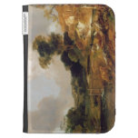 Landscape with Stream and Weir (oil on canvas) Kindle Cases
