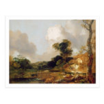 Landscape with Stream and Weir (oil on canvas) Post Cards