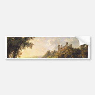 Landscape With Temple Ruins On Sicily (Valley Of T Bumper Sticker