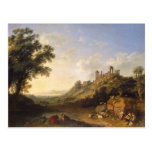 Landscape With Temple Ruins On Sicily (Valley Of T Postcard