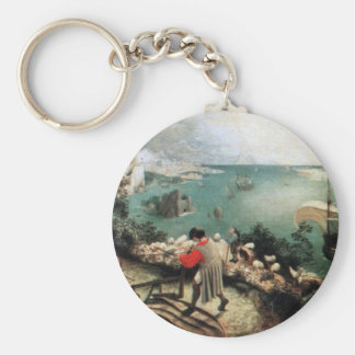 Landscape with the Fall of Icarus - 1558 Basic Round Button Keychain
