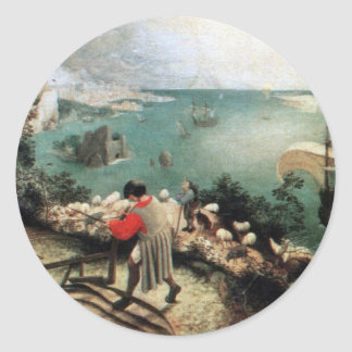 Landscape with the Fall of Icarus - 1558 Classic Round Sticker
