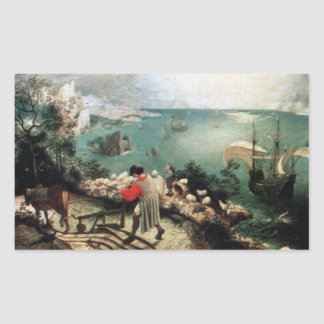 Landscape with the Fall of Icarus - 1558 Rectangular Sticker