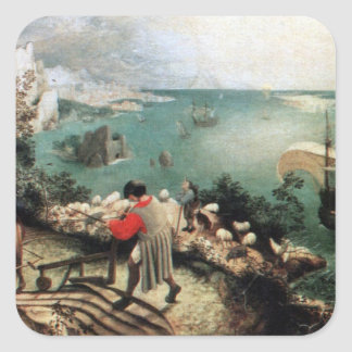 Landscape with the Fall of Icarus - 1558 Square Sticker