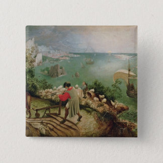 Landscape with the Fall of Icarus, c.1555 Pinback Button