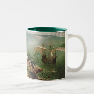 Landscape with the Fall of Icarus, c.1555 Two-Tone Coffee Mug