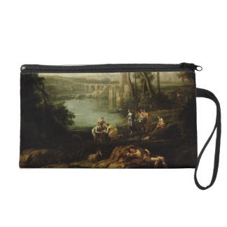 Landscape with the Finding of Moses Wristlet Purses