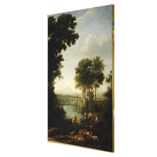 Landscape with the Finding of Moses Canvas Print