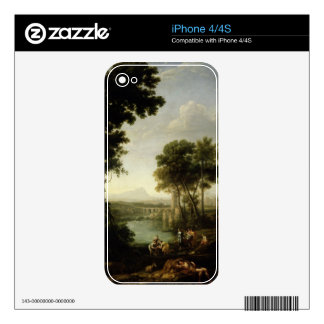 Landscape with the Finding of Moses iPhone 4 Decals