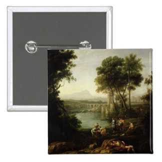 Landscape with the Finding of Moses Pinback Button