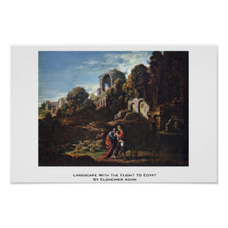 Landscape With The Flight To Egypt Posters