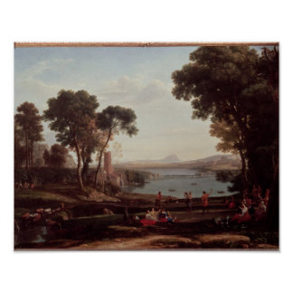 Landscape with the Marriage of Isaac Poster