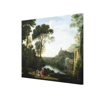 Landscape with the Nymph Egeria Canvas Print