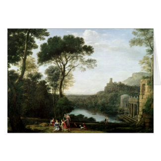 Landscape with the Nymph Egeria Card