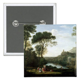Landscape with the Nymph Egeria Pinback Button