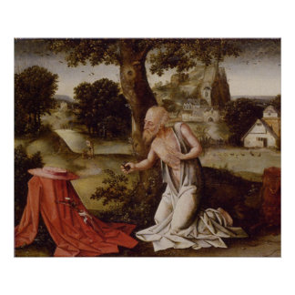 Landscape with the Penitent Saint Jerome Posters