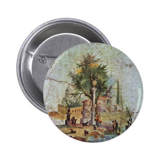 Landscape With The Sacred Tree By Pompejanischer Buttons