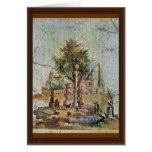 Landscape With The Sacred Tree By Pompejanischer Card
