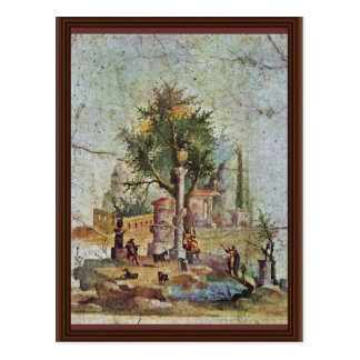 Landscape With The Sacred Tree By Pompejanischer Postcard