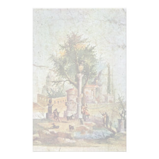 Landscape With The Sacred Tree By Pompejanischer Custom Stationery