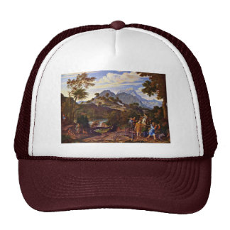 Landscape With The Scouts From The Promised Land B Mesh Hat
