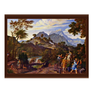 Landscape With The Scouts From The Promised Land B Postcard
