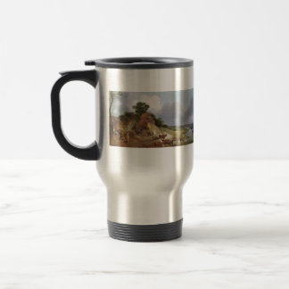 Landscape with the village by Thomas Gainsborough 15 Oz Stainless Steel Travel Mug