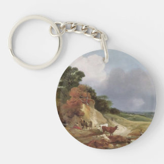 Landscape with the village by Thomas Gainsborough Acrylic Keychain