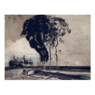 Landscape with Three Trees, 1850 Postcard