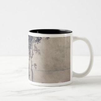 Landscape with Three Trees, 1850 Two-Tone Coffee Mug