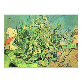 Landscape with three trees and houses by van Gogh 5x7 Paper Invitation Card