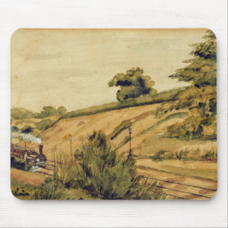 Landscape with Train, 1854 (w/c and pencil on pape Mouse Pad