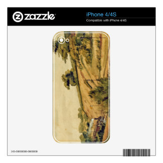 Landscape with Train, 1854 (w/c and pencil on pape Skin For iPhone 4