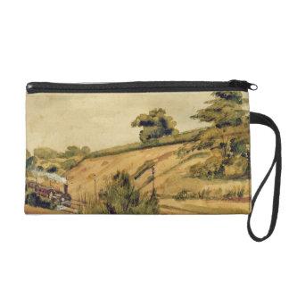 Landscape with Train, 1854 (w/c and pencil on pape Wristlet Purse