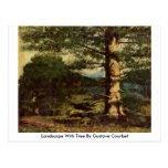 Landscape With Tree By Gustave Courbet Postcard