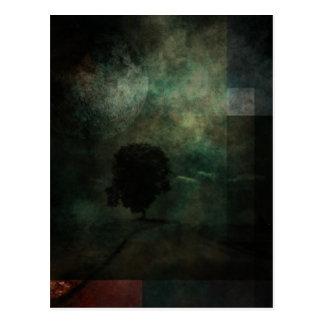 Landscape with tree postcard