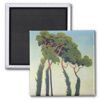 Landscape with Trees, 1911 2 Inch Square Magnet