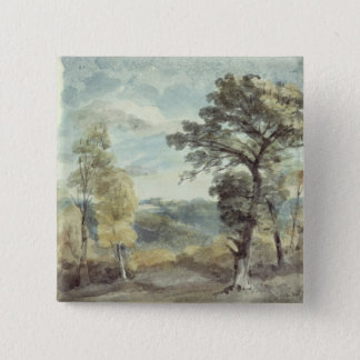 Landscape with Trees and a Distant Mansion Pinback Button