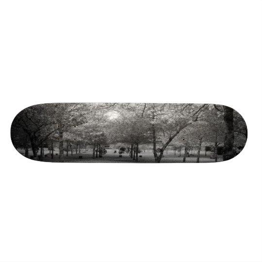 Landscape with trees skateboard deck