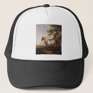 Landscape with Two Horses Trucker Hat