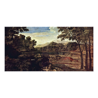 Landscape With Two Nymphs By Poussin Nicolas (Best Picture Card