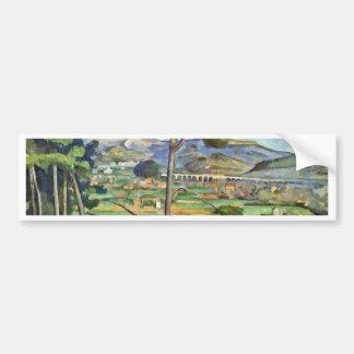 Landscape With Viaduct (Mont Sainte-Victoire) Car Bumper Sticker