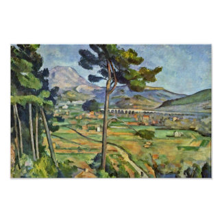 Landscape With Viaduct (Mont Sainte-Victoire) Poster
